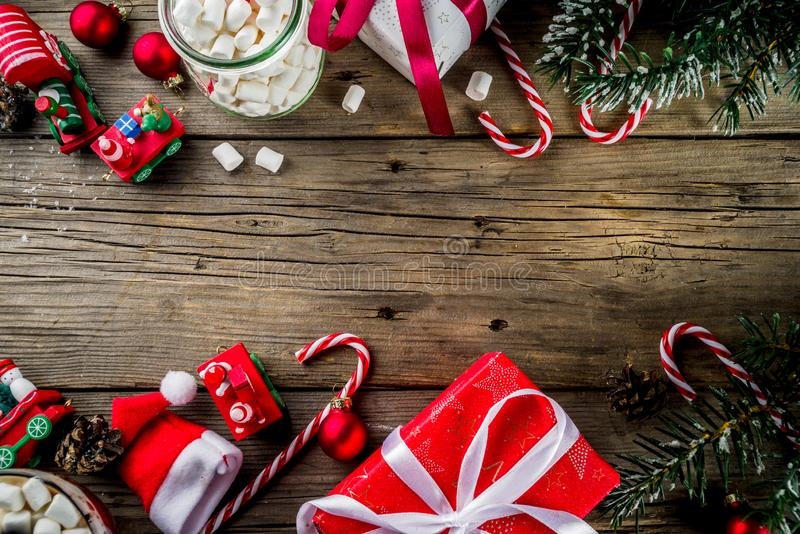 Classic Christmas background stock photo