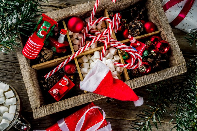Classic Christmas background royalty free stock photo