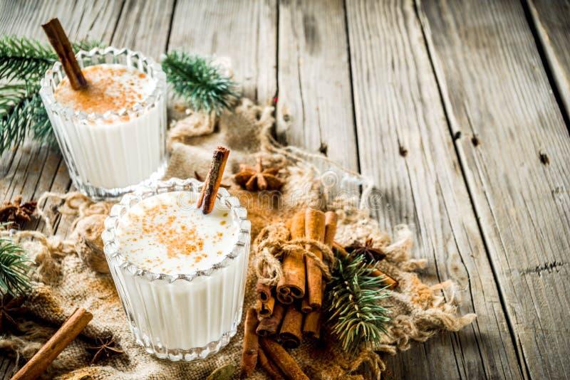 Classic Christmas drink Eggnog stock image