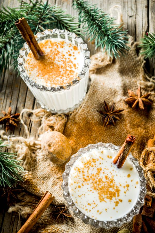 Classic Christmas drink Eggnog royalty free stock photo