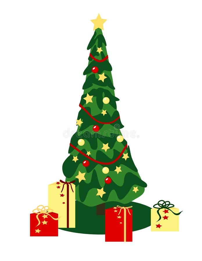 Classic Christmas Tree vector illustration