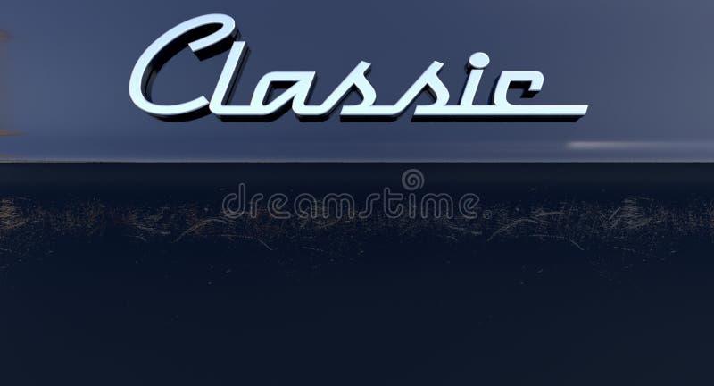 Classic Chrome Car Emblem vector illustration