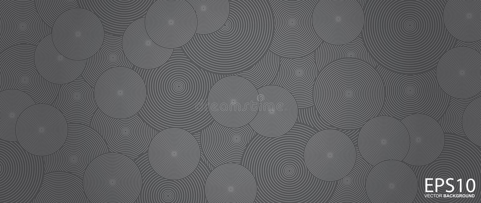 Classic circle line vector pattern background stock illustration