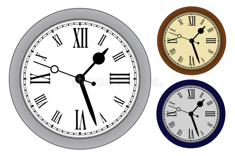 Download Classic clock stock vector. Image of hours, housing, clock - 7542001
