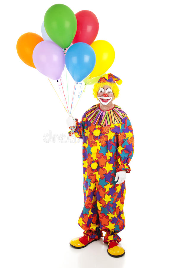 Classic Clown with Balloons stock photo