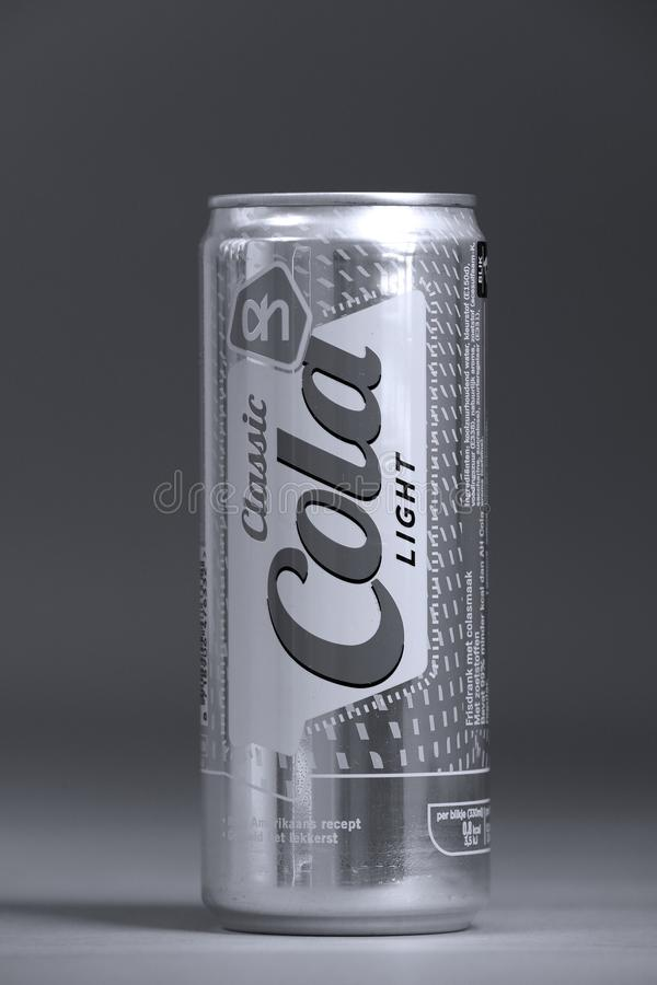 Classic Cola, no Sugar private brand of Albert Heijn, Dutch supermarket royalty free stock photo