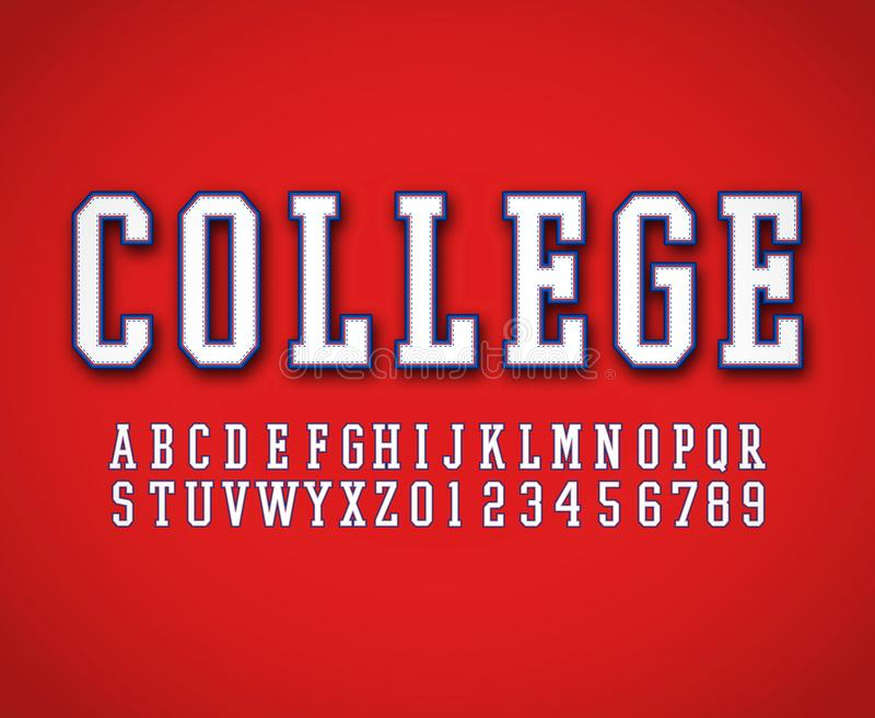 Classic college font vector vector illustration