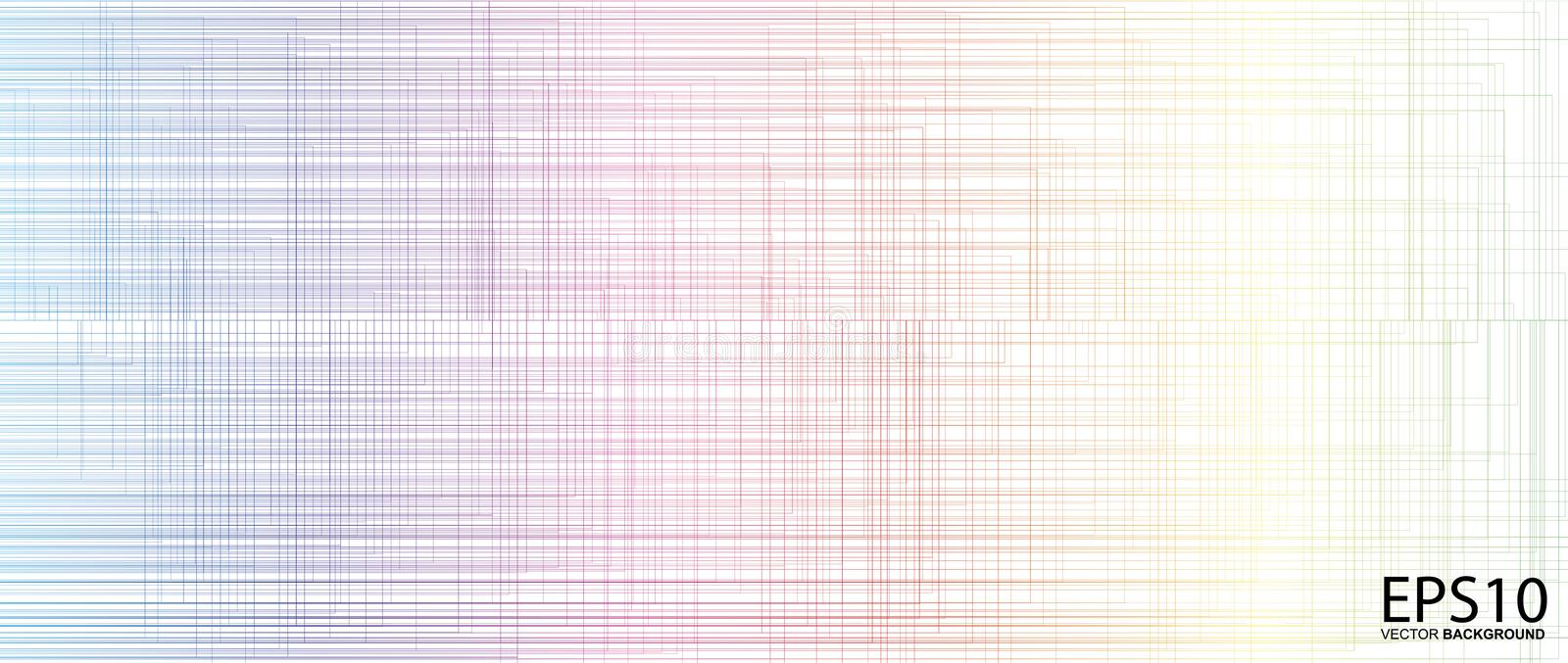 Classic colorful line vector pattern background royalty free illustration