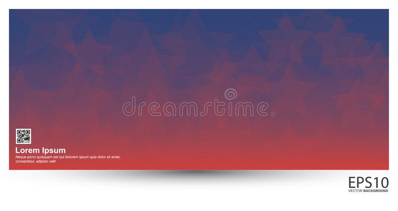 Classic colorful star line vector pattern background stock illustration