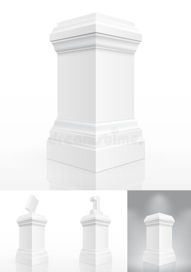 Classic Column Isolated Royalty Free Stock Image