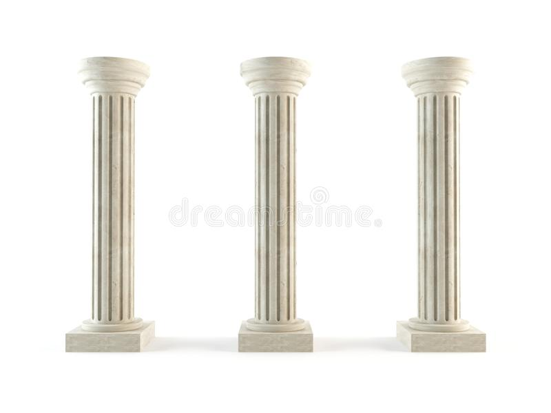 Download Classic columns stock illustration. Image of empty, antiquities - 24064139