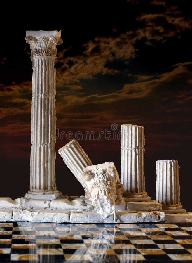 Classic columns royalty free stock images