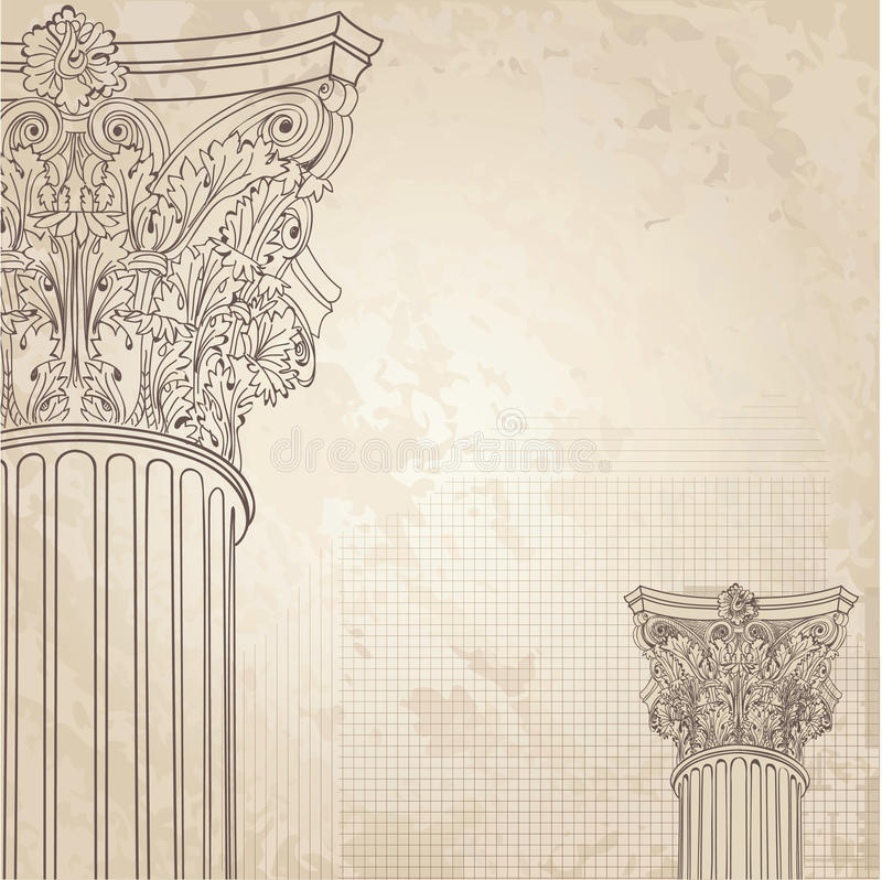 classic columns background roman corinthian column il