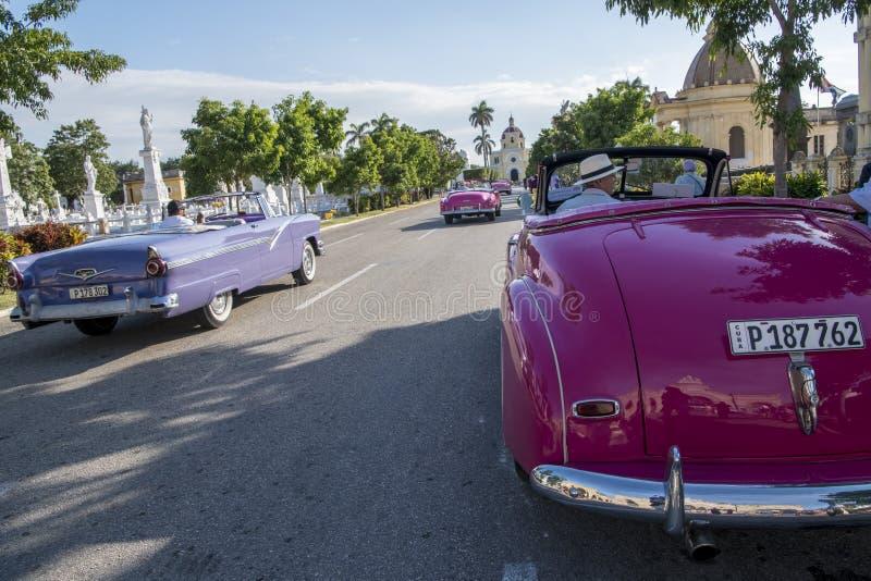 American classic cars, Havana, Cuba royalty free stock photo
