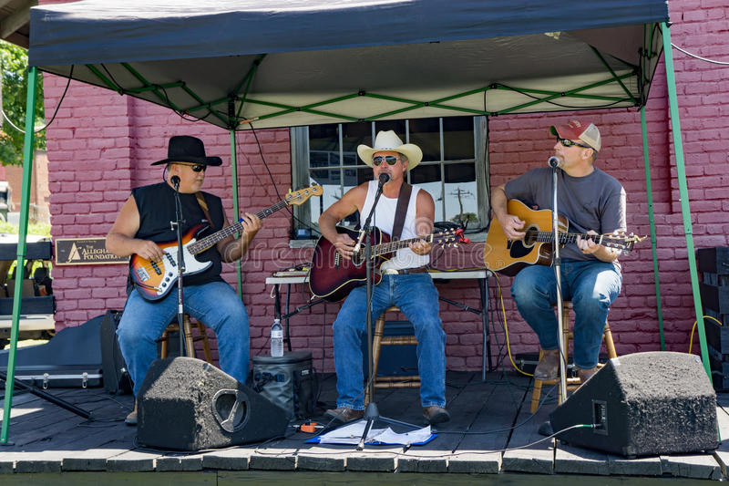 Classic Country Music by local Musicians stock photography