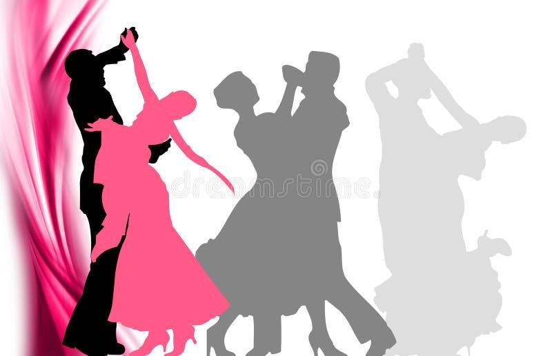 Classic dancing royalty free illustration