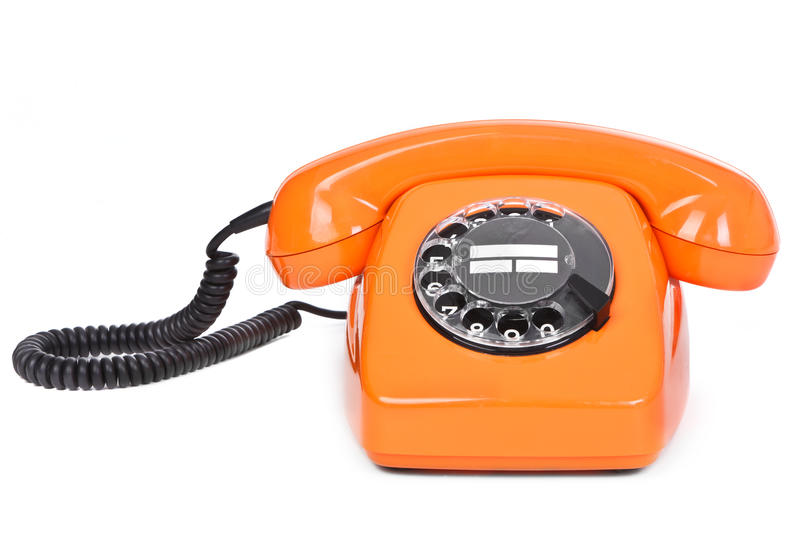 Download Classic Dial Phone On White Stock Image - Image: 22892763