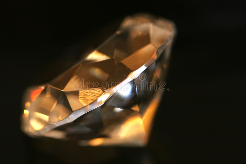 Classic diamond stock photo
