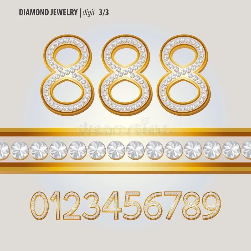 Free Classic Diamond Jewelry Digit Vector Stock Images - 37150224