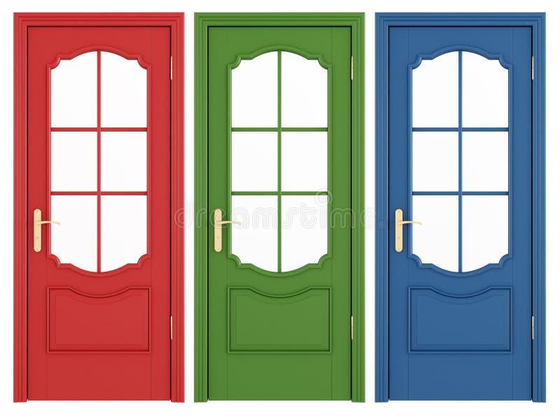 Download Classic doors stock illustration. Illustration of handle - 25267278