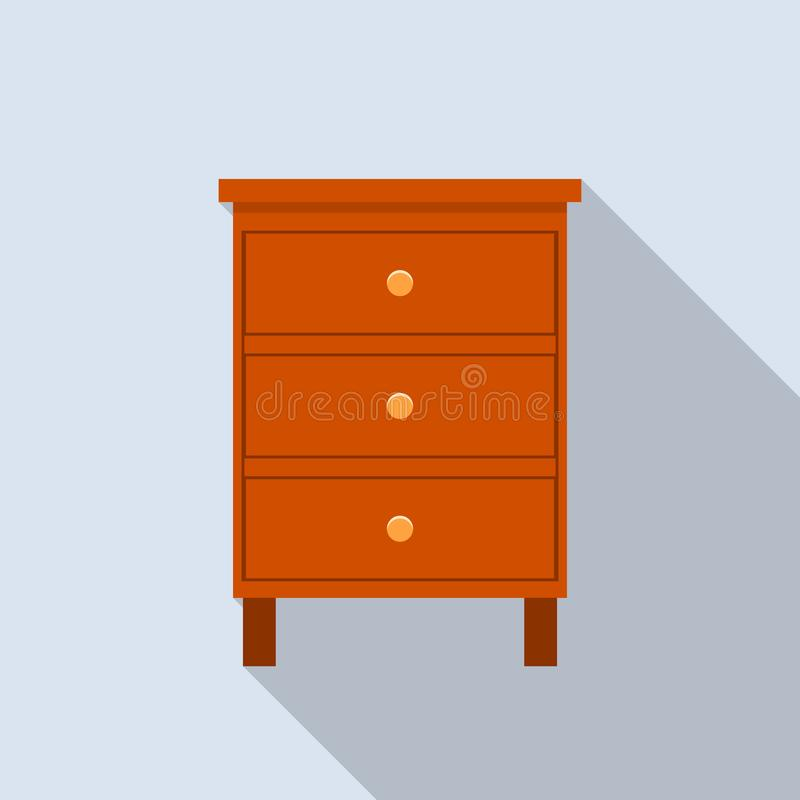 Classic drawer icon, flat style. Classic drawer icon. Flat illustration of classic drawer vector icon for web design vector illustration