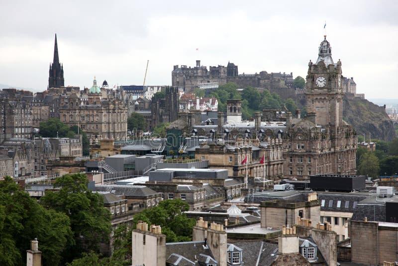 Classic Edinburgh From Calton Hill Royalty Free Stock Photo