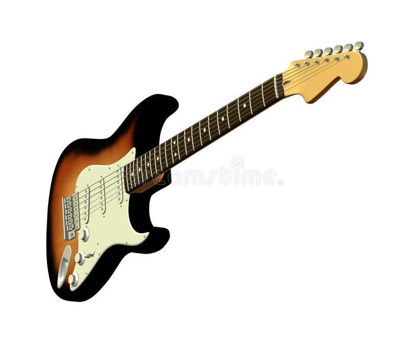 Download Classic Electric Guitar 2 stock illustration. Illustration of country - 2020088