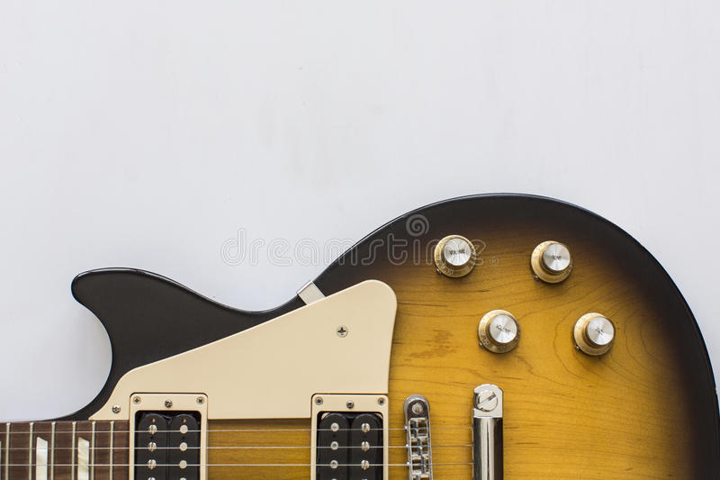 Classic electric guitar stock image