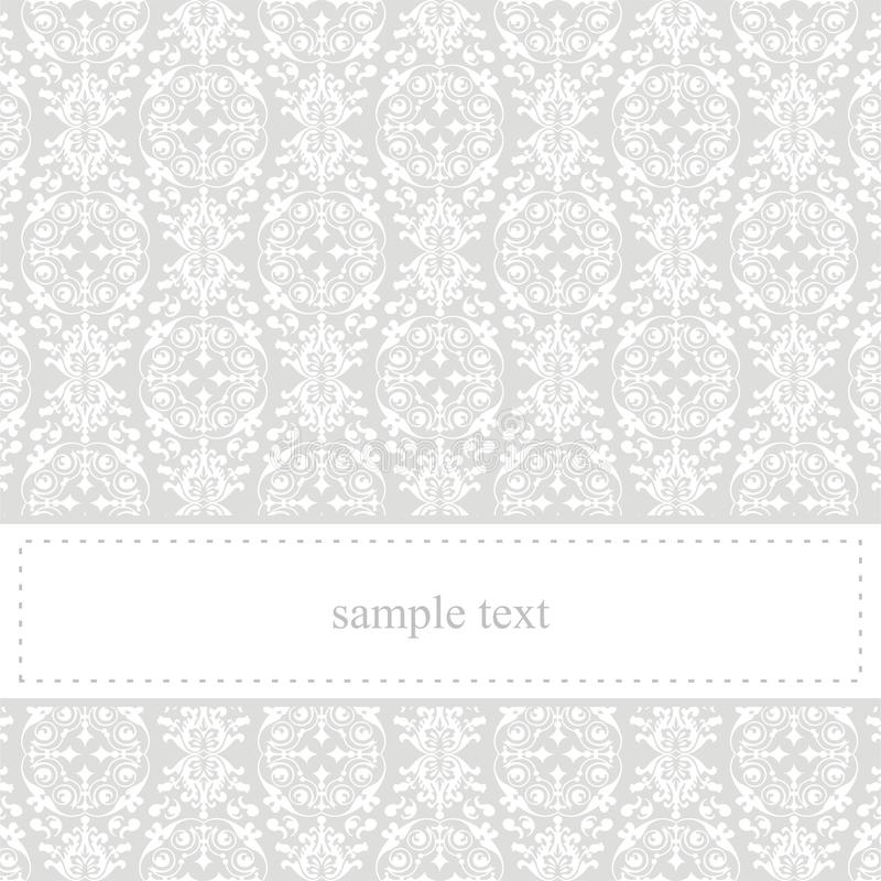 Classic elegant vector grey card or invitation stock photo