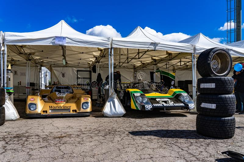 Classic endurance racing group C in montjuic spirit Barcelona circuit car show stock image