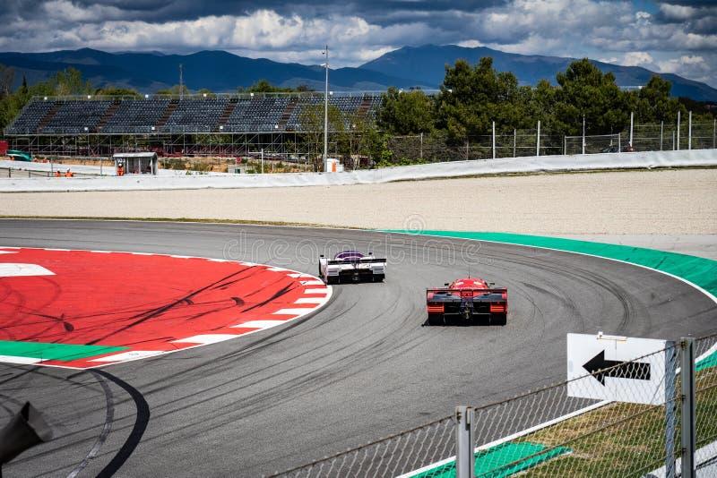 Classic endurance racing group C in montjuic spirit Barcelona circuit car show.  stock images
