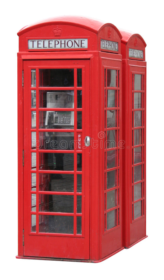 Classic English phone booth stock image