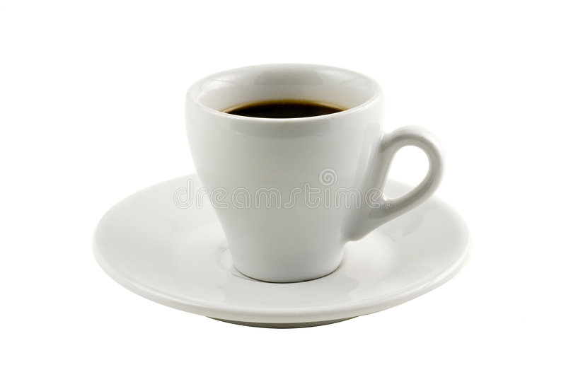 Classic espresso cup isolated on white royalty free stock photo