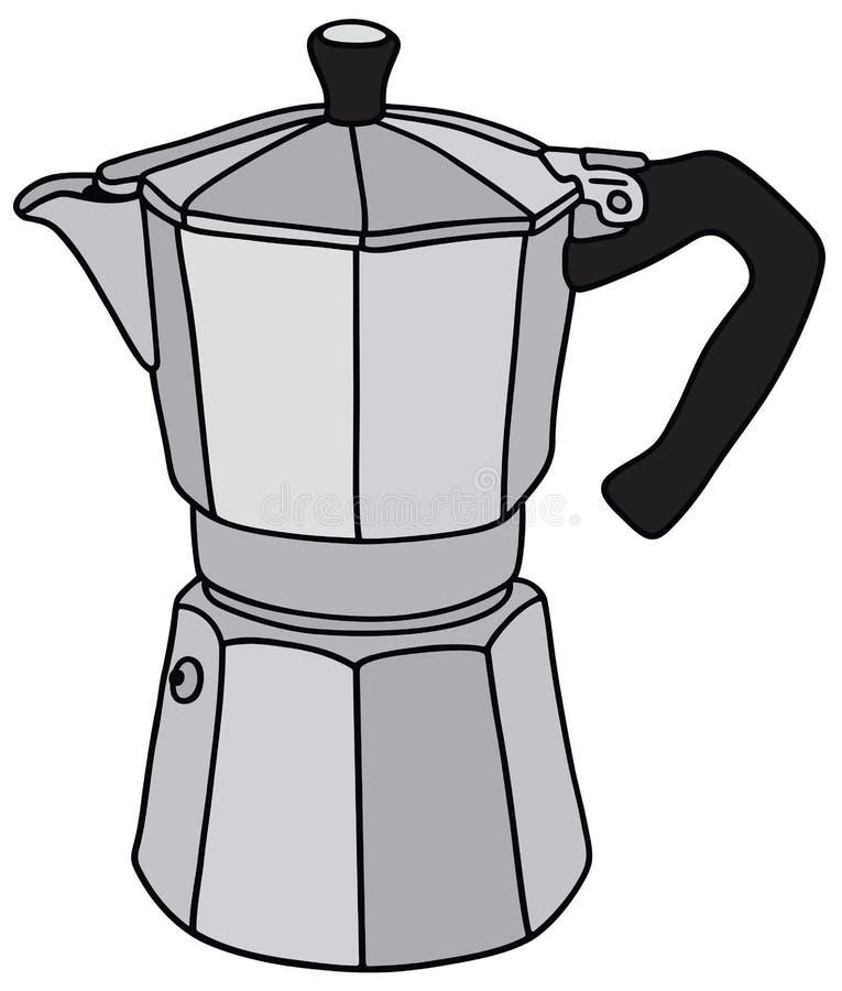 Download Classic Espresso Maker Stock Vector Illustration Of Percolator
