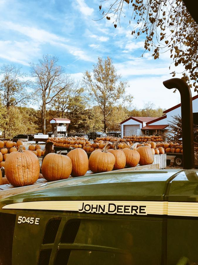 Classic fall scene at Szalay`s Farm in Peninsula, Ohio - AUTUMN. Szalay's Farm began in 1931 as a vegetable farm. Now after 85 years and four generations stock images