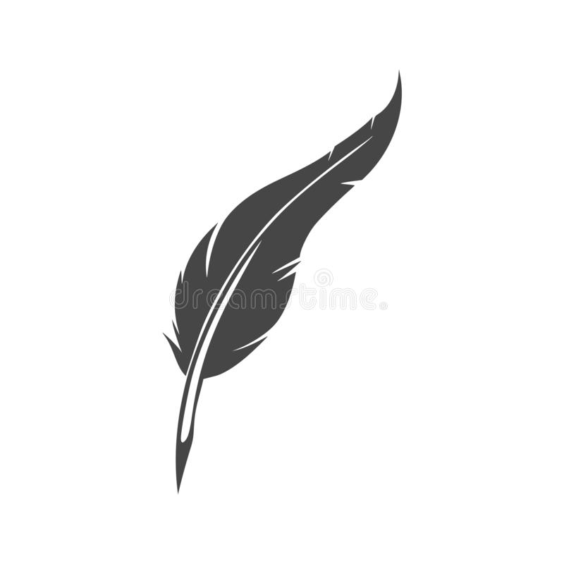 Classic feather quill illustration royalty free illustration