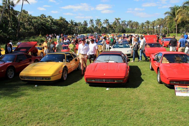 Classic Ferrari 328 sports car stock photo