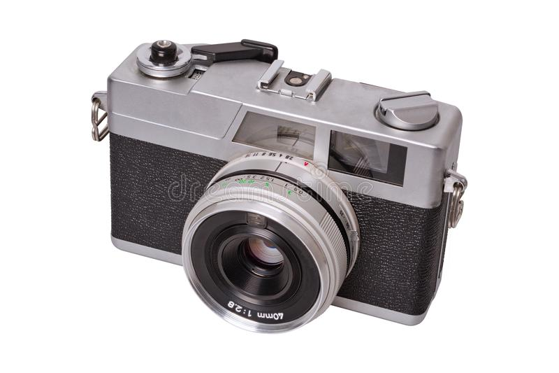 Classic film camera on a white background royalty free stock photo