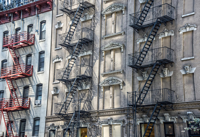 Classic Fire Escapes stock photography