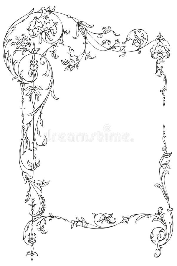 Classic Floral Frame royalty free illustration