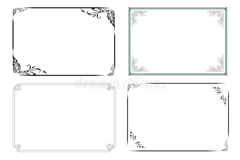 Classic frame stock vector illustration of frames empty for Classic border design