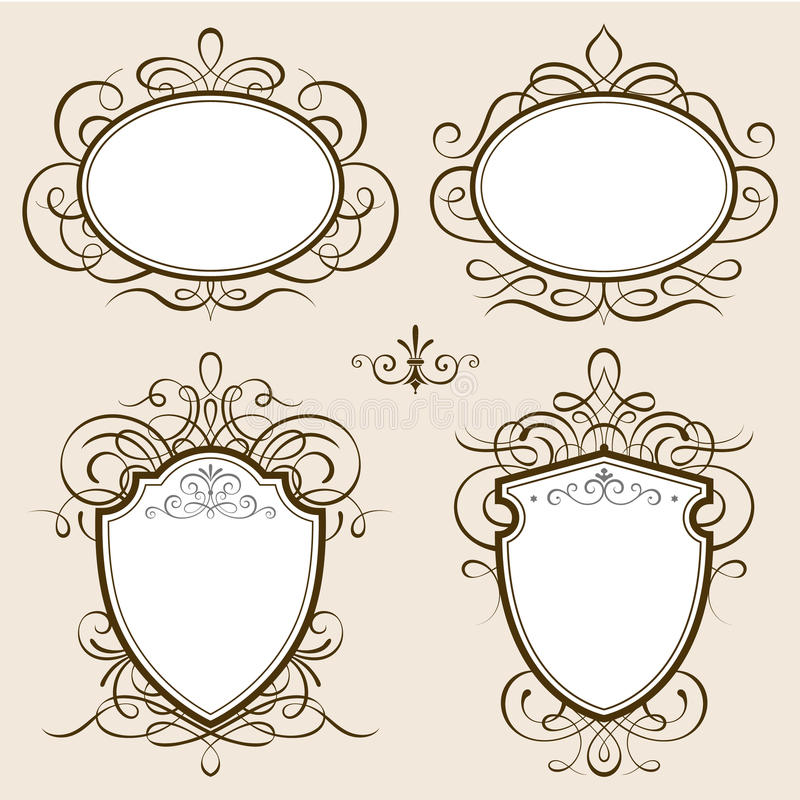 Classic Frames Vector stock vector. Illustration of floral - 68603443