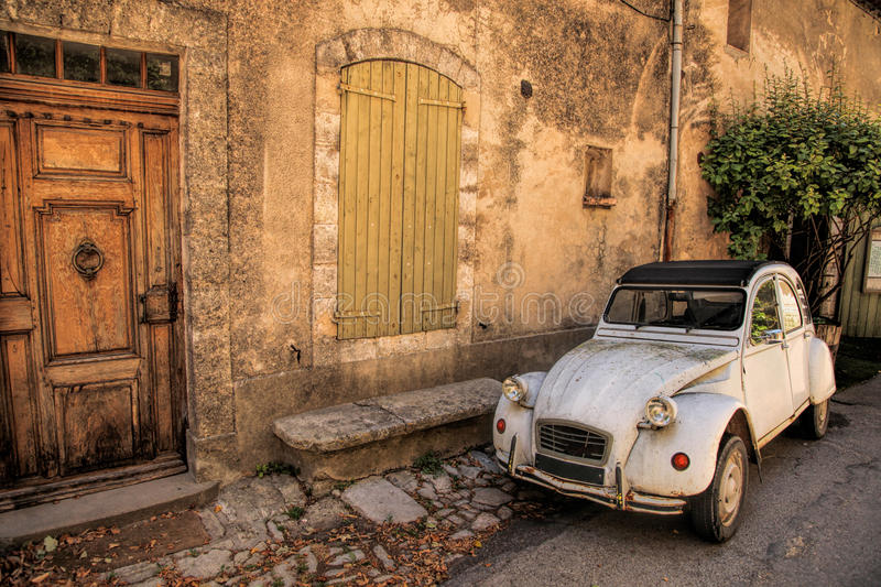 Classic French Car On A Street In The Provence France Stock Photo