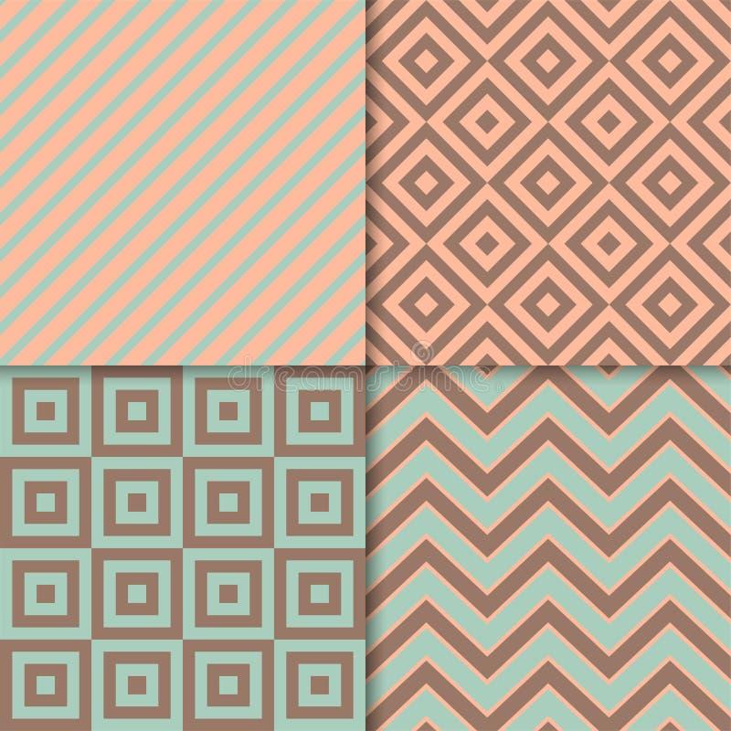 Classic geometric patterns vector set. Textile fabric prints, geometric backgrounds. Classic geometric patterns vector set. Textile fabric prints, geometric stock images