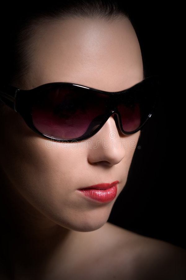 Download Classic girl stock photo. Image of woman, fashion, sunglasses - 7236636