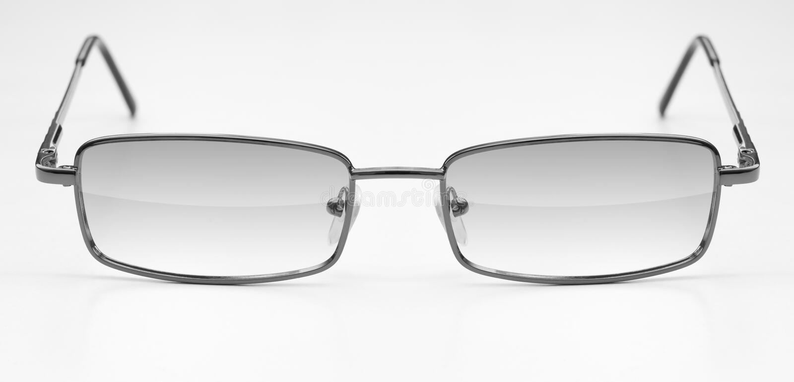 Classic glasses in metal frame royalty free stock photo