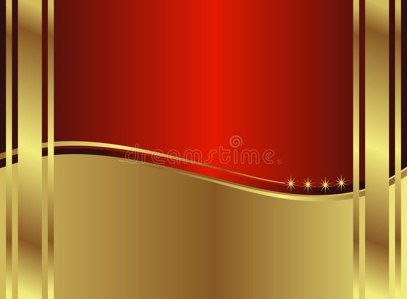 Classic Golden Backround royalty free illustration