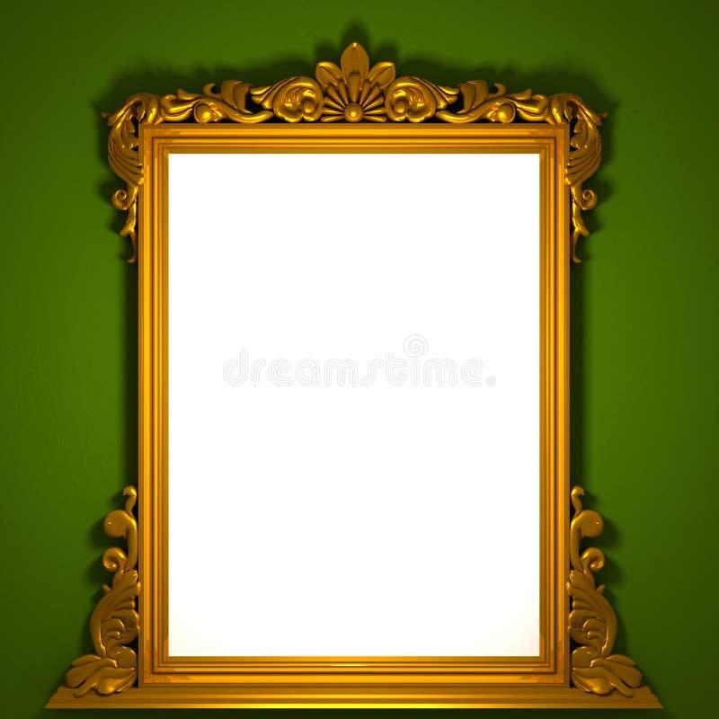 Download Classic golden frame stock illustration. Image of interior - 11308457