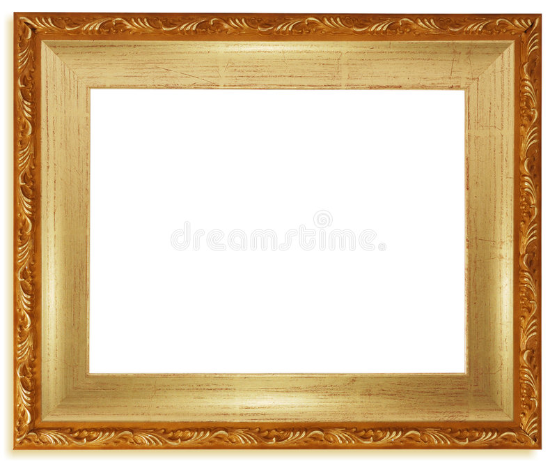 Download Classic golden frame stock image. Image of border, carving - 7107357