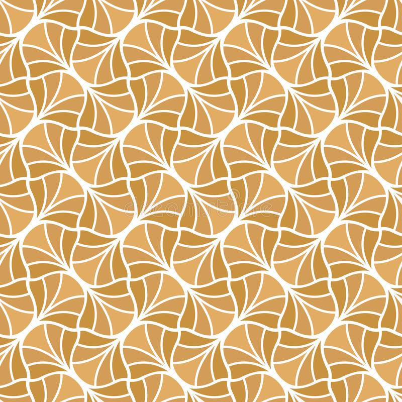 Vector Classic Floral art nouveau Seamless pattern. Stylish abstract art deco texture. Classic Golden Leaves Art Deco Seamless Pattern. Geometric Leaf Stylish vector illustration